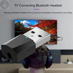 ADAPTADOR BLUETOOTH PARA TV PC MP3 MP4 CON INTERFAZ USB con Cable AUX DE 3,5 MM