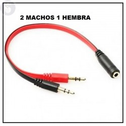 CABLE HEMBRA 3.5 AUDIO Y MICROFONO MACHO 3.5