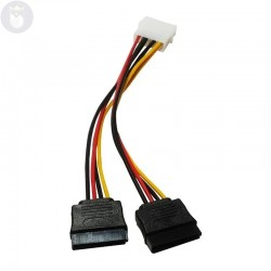 CABLE SATA DOBLE CORRIENTE