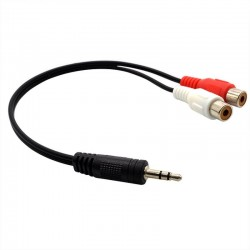 CABLE 3.5MM A 2 RCA HEMBRA